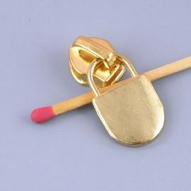 Curseur et tirette métal pour fermeture glissière sac