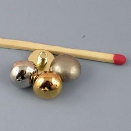 Pied de sac rond métal luxe vis, accessoire maroquinerie.9 mm diamètre