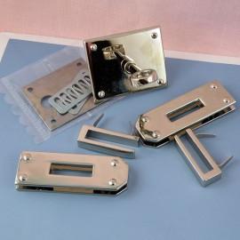 Fermoir métallique sac à main systeme  Hermès, 6cm, 60mm.