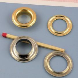 Œillet rond  métal à sertir, emboutir 19 mm.