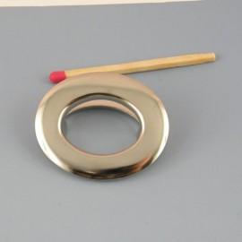 Oeillet ovale métal à pattes