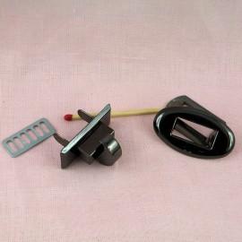 Fermoir tourniquet métal sac à main 2 parties