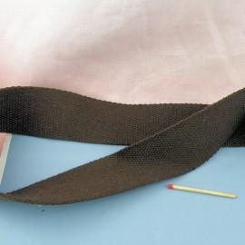 Sangle coton épaisse maroquinerie, souple, 43,8 cm par 10 cm