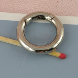 Anneau métal fermeture fournitures maroquinerie 37 mm.