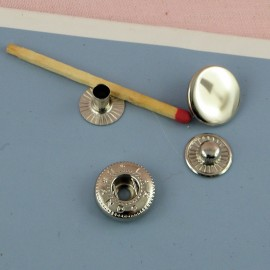 Bouton pression métal à emboutir 15 mm
