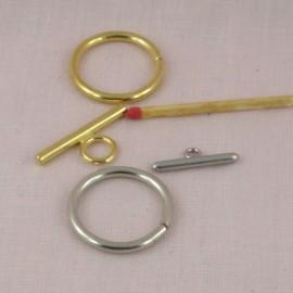 Fermoir deux parties anneau tige 3 cm