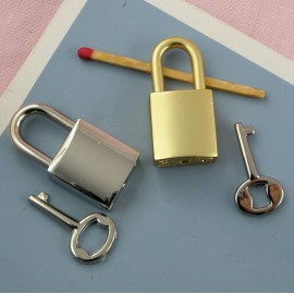 Cadenas coeur métal luxe miniature, fourniture maroquinerie, fermeture sac 3,9 cm