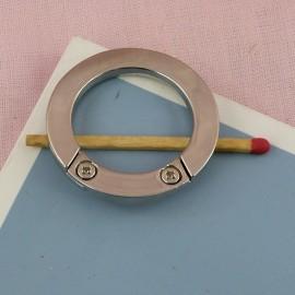 Anneau plat métal  diamètre 34 mm.