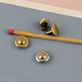 Rivet Jean métal maroquinerie à emboutir 9 mm.