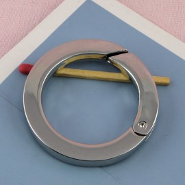 Anneau plat métal ouverture  fournitures maroquinerie 4 cm