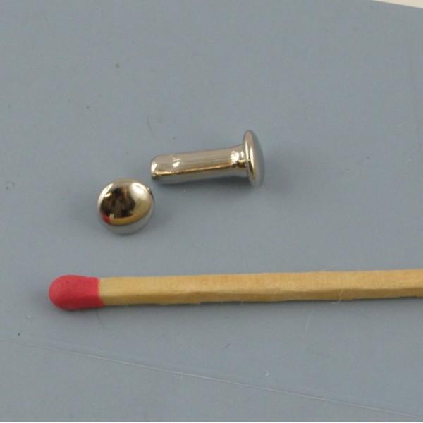 Rivet clou metal 6 mm