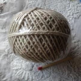 Bobine Cordelette Fil chanvre, Cordon, cordonnet 1,5 mm.