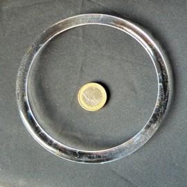 Transparent plastic round bag purse  handle 12 cms.