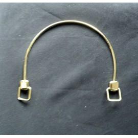 Anse sac maroquinerie métal pour perles 15 cm