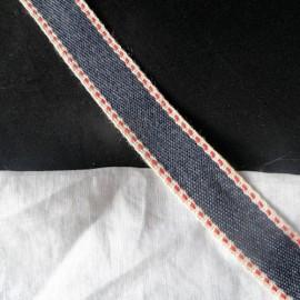 Ruban coton surpiqué galon décoratif épais bordure anse sacs, 2 cm large par 10 cm