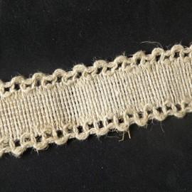 Dentelle rustique coton Bande à broder ancienne bordure anse sacs, 3 cm large par 10 cm