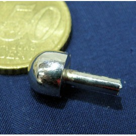 Pied de sac demi boule métal luxe accessoire maroquinerie.