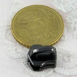 Curseur métallique acier luxe pour fermeture glissière sac,  fourniture maroquinerie.