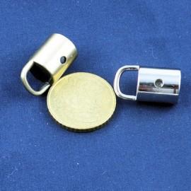 Embout métallique luxe attache cordelière, fournitures maroquinerie.