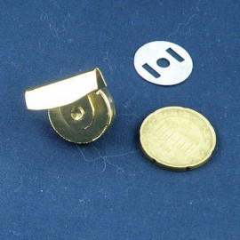 Fermeture magnétique pression aimantée épaisses fournitures maroquinerie 18 mm.