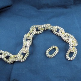 Chaîne fine plastique 2 cm anse sac fourniture maroquinerie.