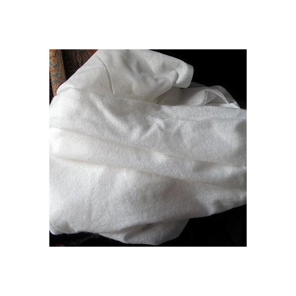 Tissu toile laineuse thermocollant en 150 cm au mètre