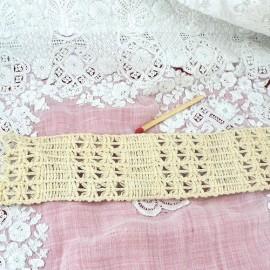 Dentelle rustique coton Bande macramé anse sacs, 5 cm