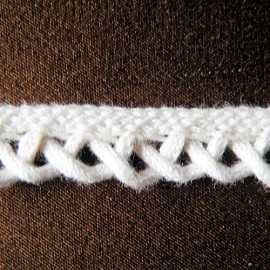 Dentelle arceaux galon, macramé, passepoil coton épais12 mm