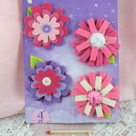 Fleurs feutre décoration