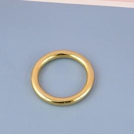 Anneau rond métal fournitures maroquinerie 3 cm.