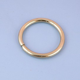 Anneau rond métal fournitures maroquinerie 4 cm.