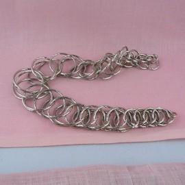 Chaîne sac métal anse 31 cm fourniture maroquinerie.
