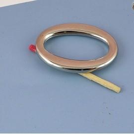 Anneau ovale plat métal attache poignée sac maroquinerie 38 mm