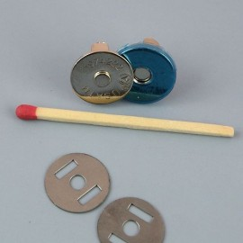 Fermeture magnétique pression aimantée fournitures maroquinerie 15 mm fines