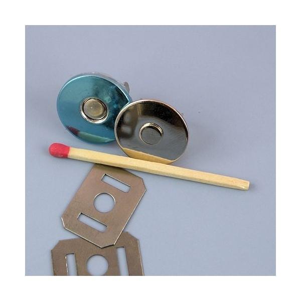 Fermeture magnétique pression aimantée fournitures maroquinerie fine 19 mm.