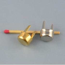 Pied de sac cylindre métal luxe, accessoire maroquinerie.cylindre 12 mm