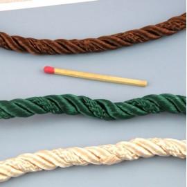 Passepoil Galon rond,, cordelière sur ruban, passementerie 6,5 mm