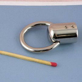 Mousqueton métal attache corde 15 mm fournitures maroquinerie.