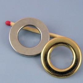 Oeillet rond  métallique à pattes, 28 mm.