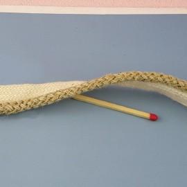 Passepoil coton rustique Galon rond coton cordelière sur ruban, passementerie 7 mm