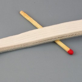 Stripped knitted piping ribbon, 4mms.