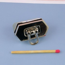 Metal purse flip lock