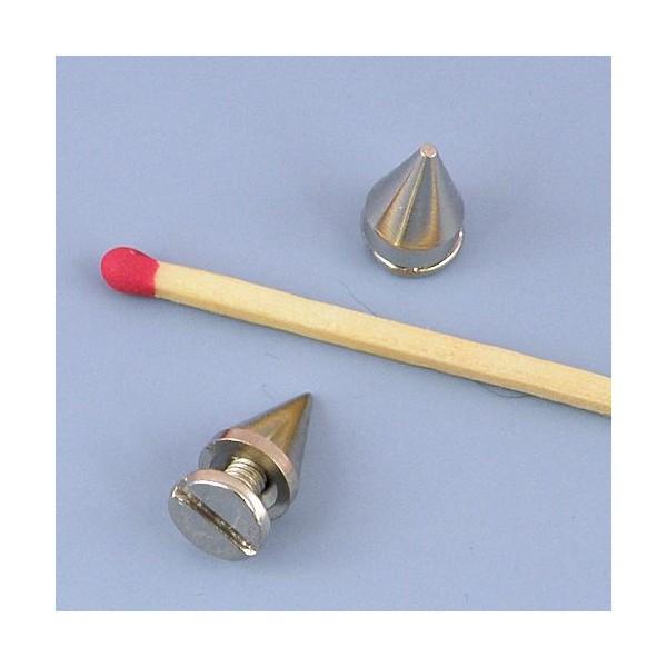 Metal rivet cone decoration