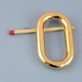 Anneau ovale rectangulaire métal grande taille 45 mm.