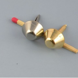 Pied de sac métal  accessoire maroquinerie luxe, cône diamètre.15 mm
