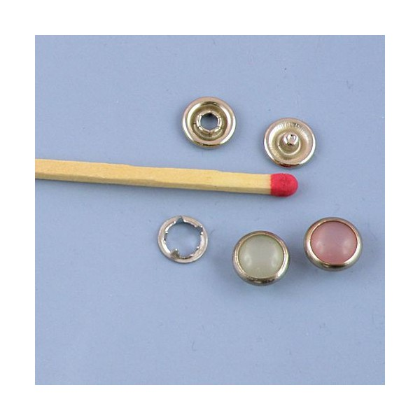 Bouton pression mini à emboutir 8 mm fournitures maroquinerie