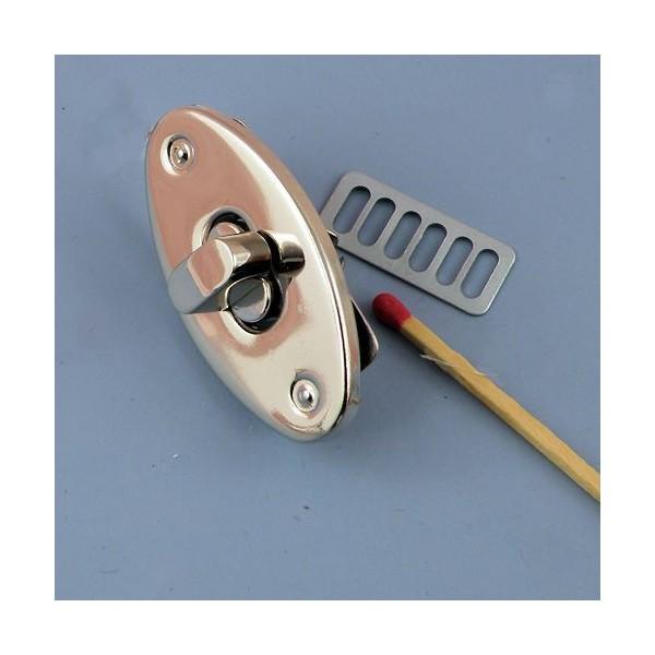 Metal purse turn lock 2 parts