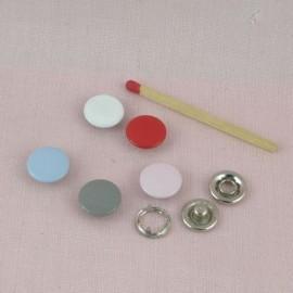 Bouton pression métal à emboutir 12 mm