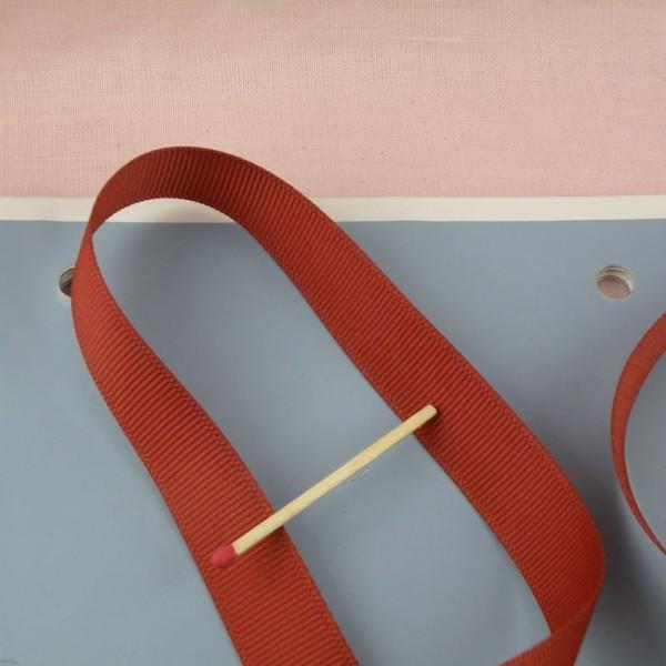 Galon gros-grain décoration, renfort anse sacs,15 mm large par 10 cm: