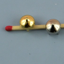 Pied de sac métallique luxe, accessoire maroquinerie 1 cm diamètre